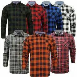 Casual Wear Checks Designer Shirt, Handwash
