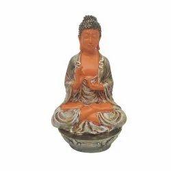 Orange Ashirwad Gautam Buddha Statue