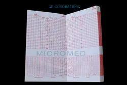 Red Grid ECG Paper