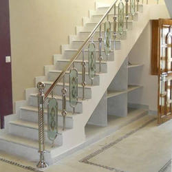 Designer SS Stairs Glass Railing