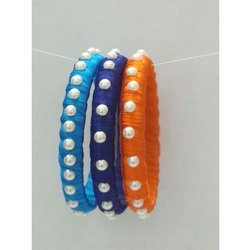 Pearl Silk Thread Wrap Bangles