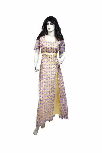 Orchid Petals Indo Western Gown, Size: L,XL