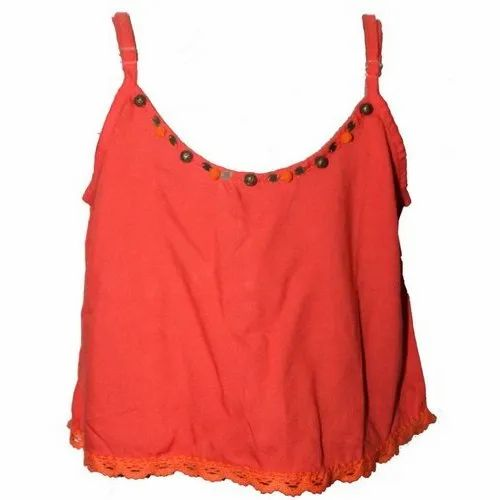 ee85a11afbee3 Casual Plain Ladies Sleeveless Tops