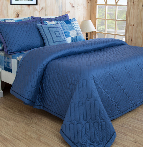 Solid Blue Quilt Set At Rs 15999 Set Mohan Cooperative Industrial