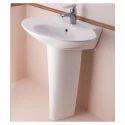 Wall Hung Wash Basin With Full Pedestal