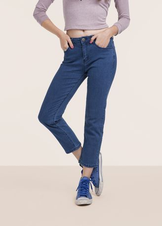 Stretchable Loose-fit Women Casual Denim Jeans, Packaging Type: Box