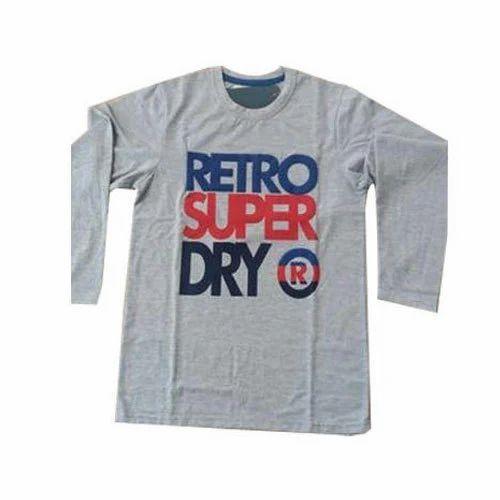 85f93639 Mens Cotton Full Sleeve Printed T Shirt, Size: M - XXL, Rs 200 ...