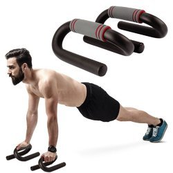 S Shape Push Up Bar Stand  Home Gym Exercise Fitness Equipment