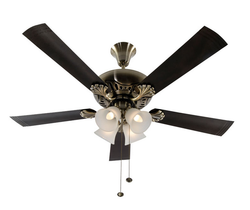 Usha Fontana Maple Antique Brass 1270 Lifestyle Ceiling Fan