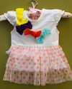 Kids Dress Baby Girl 3d Bow Set