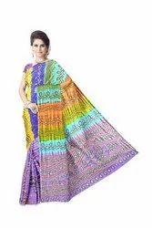Kasab And Aabhla & Thread Work Design Gaji Silk Bandhani Saree