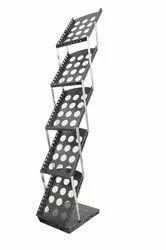 Anva Metal Floor Standing Magazine Holder Rack Stand