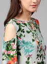 Printed Cold Shoulder Kurta