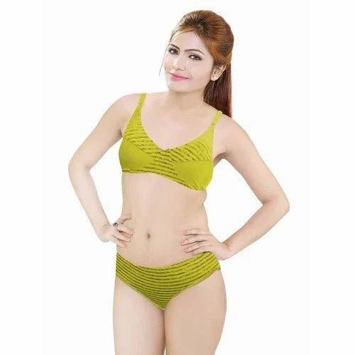 Ladies Green Panty Bra Set at Rs 150  set  2be553554