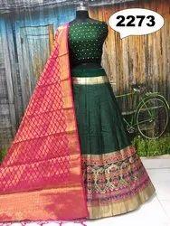 Thankar Semi-Stitched Latest Heavy Banarasi Style Lehenga, Age: 20-40