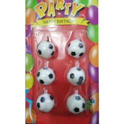 Football Shaped Birthday Party Candle