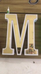 Golden LED Acrylic Letter