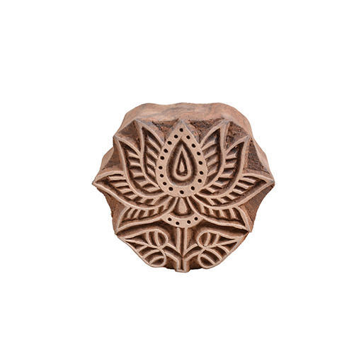 Wooden Stamp Wooden Lotus Flower Printing Blocks Rs 450 Piece Id