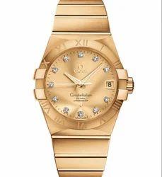 Omega Men Yellow Gold Watch