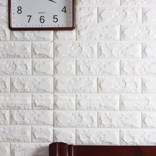 fiber white wall sticker brick design, rs 100 /square feet, zap