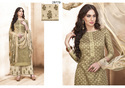 Pure Silk Satin Embroidered Palazzo Salwar Kameez