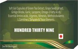 Soft Gel Capsules of Green Tea Extract, Grape Seed Extract Ginkgo Biloba Lycopene Omega-3 Fatty Acid