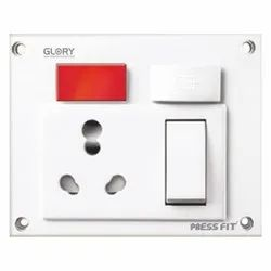 Press Fit Glory 5-in-1 6/16 Amp. Universal Switch Socket Combined