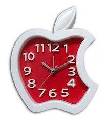 Wall and Table Clock With Alarm Apple Design Clock