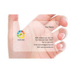 Frosted Translucent Business Cards