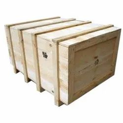 Light Weight Rectangle Heat Treated Pine Wooden Box, Box Capacity: 201-400 Kg