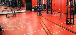Gymnasium Flooring Service, Minimum Area: 500 Sq Ft