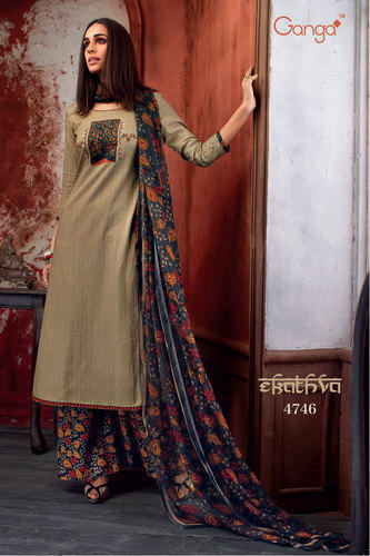 8cf1f49d29c Party Wear Semi Stitched Cotton Salwar Suit