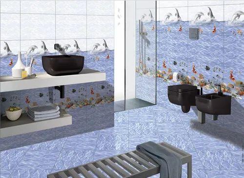 Multicolor Ceramic Tiles Bathroom, Pictures Of Tiled Bathrooms Designs