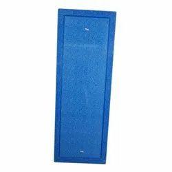 Blue PVC Bathroom Door