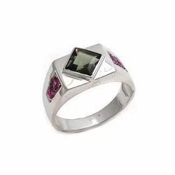 Green Amethyst & Ruby 925 Fine Fashionable Dashing Model Designable Mens Ring