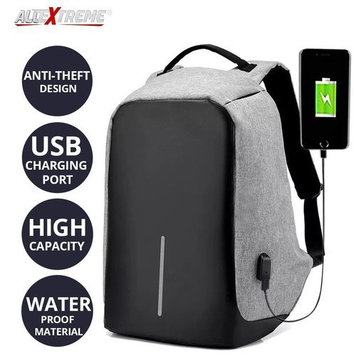 Anti Theft Backpack Bag Usb Charge 43cm
