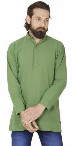 a1d47fa91 Skavij Mens Casual Kurta Shirt Long Sleeve Button Down Dress Relax Fit  Cotton Short Kurta