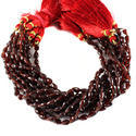 Red Garnet Faceted Straight Drill Teardrop Beads