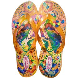Daily wear Ladies Light Weight Printed Rubber Slipper, Size: 5-8