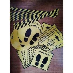 Yellow PVC Safety Sticker