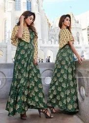 Latest Designer Gown Style Long Kurtis Collection