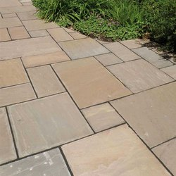 Polished AB 01 Autumn Brown Sandstone Tiles, For Flooring, Thickness: 10 - 20 Mm