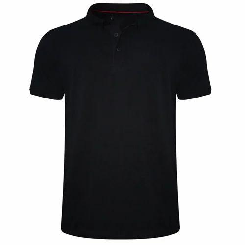 1d8bb41af37 Mens Cotton Black Polo T-Shirt