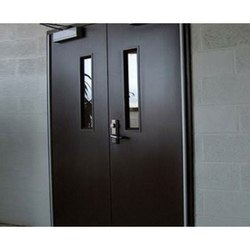 GI Powder Coated Dark Brown Acoustic Double Door, For Hospital, Thickness: 46 Mm