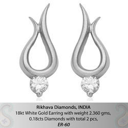 Daily Wear Real Diamond Earrings