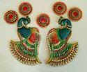 Kundan Big Peacock Rangoli