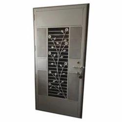 Metallic Gray, Brown MS Hinged Safety Door