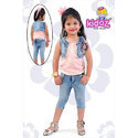 Kids Girl Fancy Capri And Top With Jacket