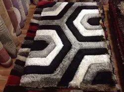 Shaggy Rectangular Designer Handloom Carpet