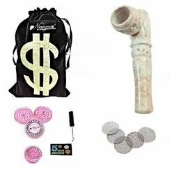 Stone Smoking Tobacco Pipe American Design Smoking Pipe 4 Inch INCL. Full Accessories